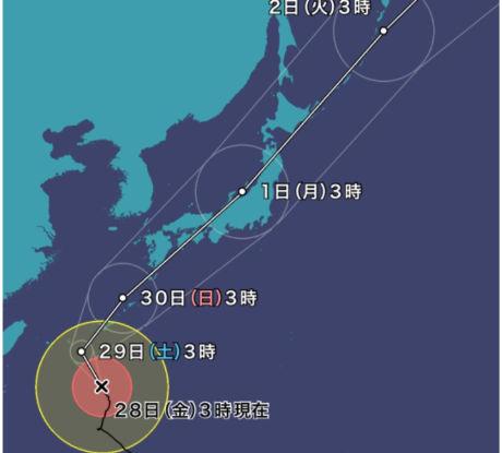 台風24号3時