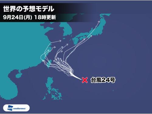 台風24号進路予想モデル