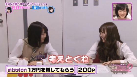 白石麻衣は北野日奈子に1万円を貸さない2