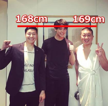 チョコプラ長田と松尾の身長はほぼ一緒