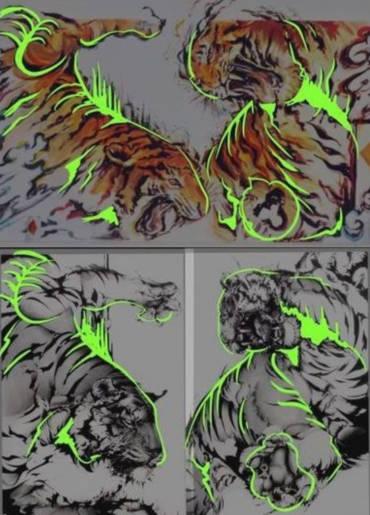 勝海麻衣の盗作疑惑の比較虎の画像2